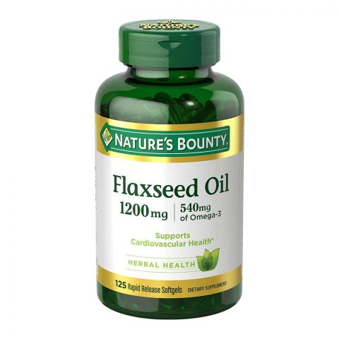 Nature's Bounty Flaxseed Oil, 1200mg, 125 Softgels, Dietary Supplement