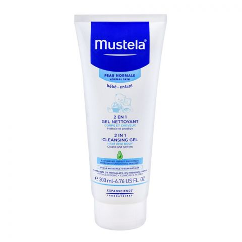 Mustela 2-in-1 Hair And Body Cleansing Gel, Normal Skin, 200ml