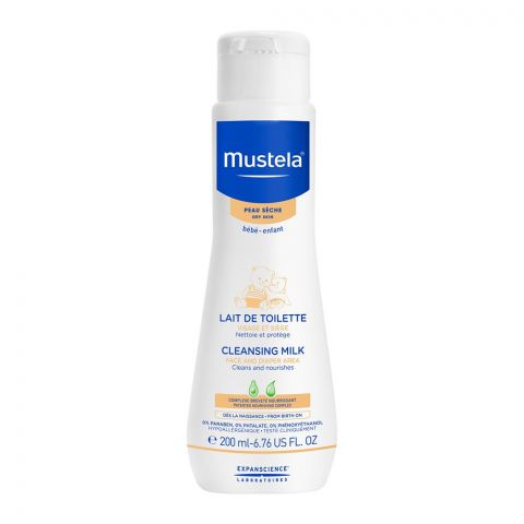 Mustela Face and Diaper Area Cleansing Milk, Dry Skin, 200ml