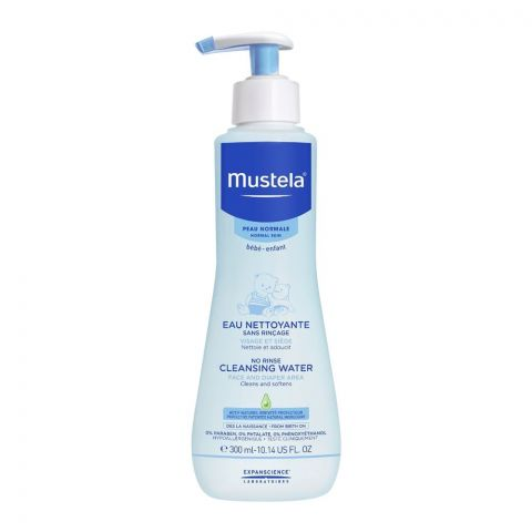 Mustela Baby No Rinse Cleansing Water, Face And Diaper Area, 300ml
