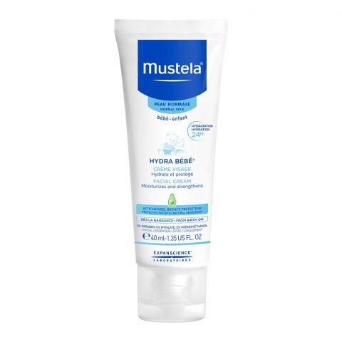 Mustela Hydra Baby Facial Cream, Normal Skin, 40ml