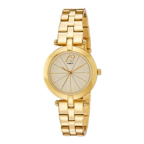Timex Analog Gold Dial Women's Watch - TW000Z200