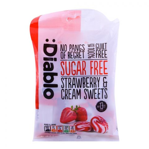 Diablo Sugar Free Strawberry & Creams Sweets 75g