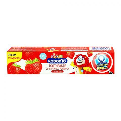 Kodomo Ultra Shield Formula Cream Toothpaste, Strawberry, 40g