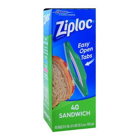 Ziploc Sandwich Bags, 40-Pack