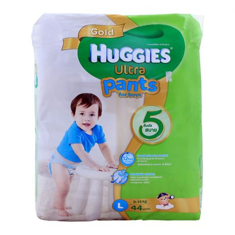 Huggies Ultra Pants For Boys, Large 9-14 KG, 44-Pack