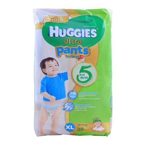 Huggies Ultra Pants For Boys, XL 12-17 KG, 38-Pack