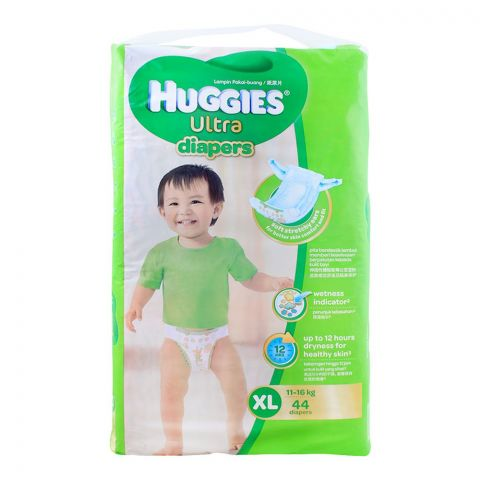 Huggies Ultra Diapers, XL, 11-16 KG, 44-Pack