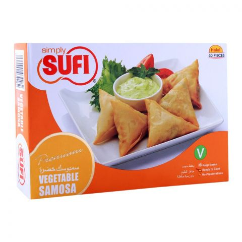 Sufi Vegetable Samosa, 30 Pieces, 420gm