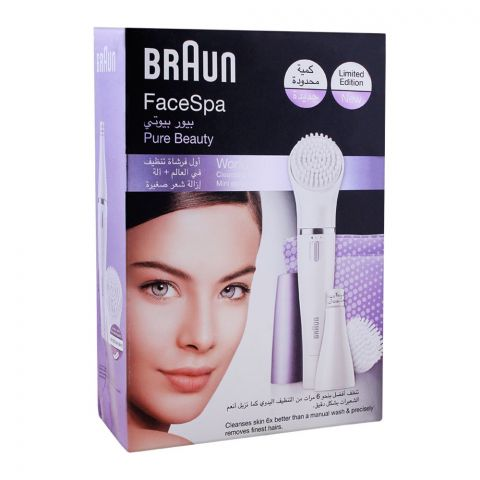 Braun FaceSpa Pure Beauty Mini Epilator + Face Cleansing Brush, 832N