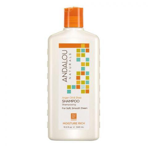 Andalou Argan Oil & Shea Moisture Rich Shampoo, 340ml