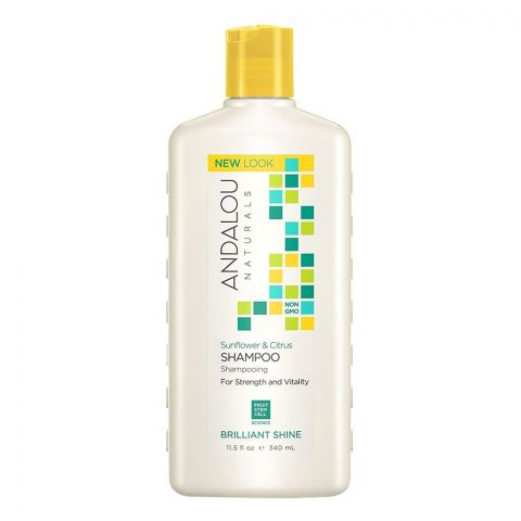 Andalou Sunflower & Citrus Brilliant Shine Shampoo, 340ml