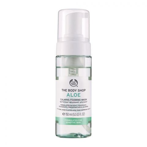 The Body Shop Aloe Calming Foaming Wash, Fragrance/Alcohol Free, Suitable for Sensitive Skin, 150ml