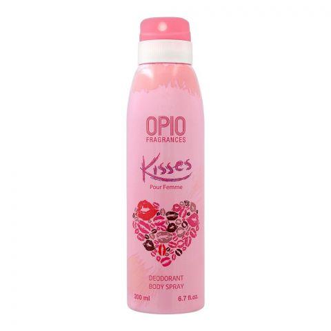 Opio Kisses Deodorant Body Spray, For Women, 200ml
