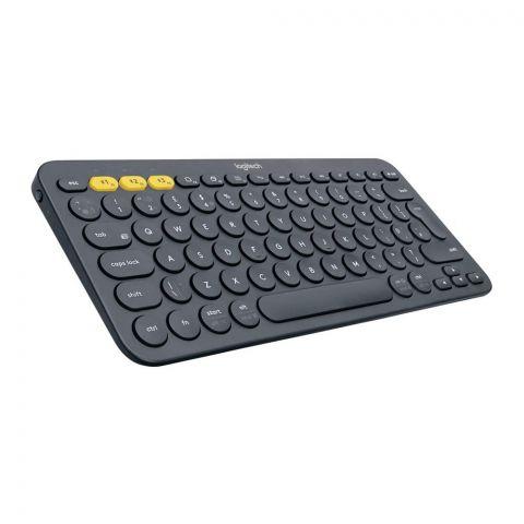 Logitech K380 Multi Device Bluetooth Wireless Keyboard, Black
