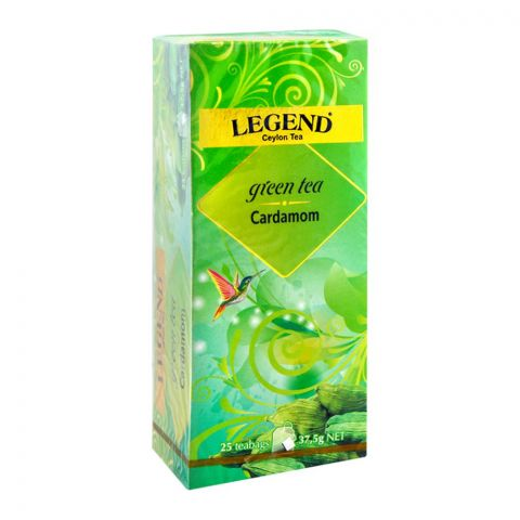 Legend Ceylon Green Tea, Cardamom, 25 Tea Bags