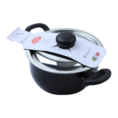 Ballarini Casserole Non-Stick Sauce Pan With Steel Lid, 18cm, 7 Inches