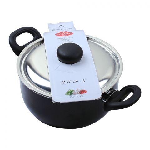 Ballarini Casserole Non-Stick Sauce Pan With Steel Lid, 20cm, 8 Inches