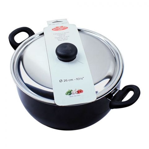 Ballarini Casserole Non-Stick Sauce Pan With Steel Lid, 26cm, 10.5 Inches