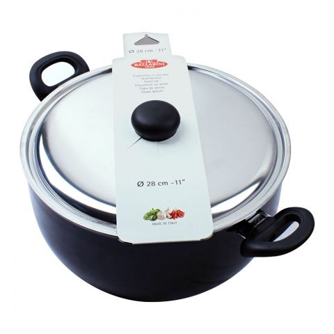 Ballarini Casserole Non-Stick Sauce Pan With Steel Lid, 28cm, 11 Inches