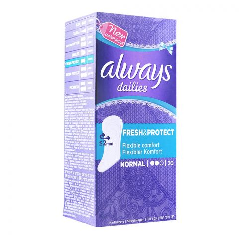 Always Dailies Fresh & Protect Pantyliners, Normal, 20-Pack