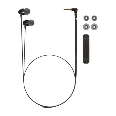 Sony Comfortable Fit Stereo Headphone, Noise Isolation, Black, MDR-EX15LP