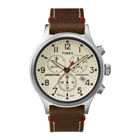 Timex Men's Expedition Scout Leather Chronograph Watch - TW4B04300