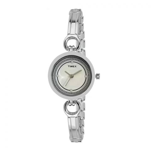 Timex Analog White Dial Women's Watch - TWEL11400