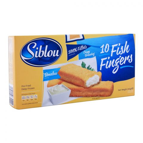 Siblou Fish Fingers, 10 Pieces, 250g