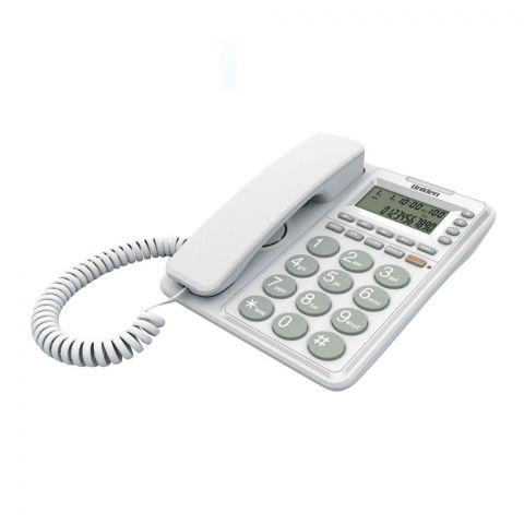 Uniden Caller ID Landline Phone, White, AT-6408