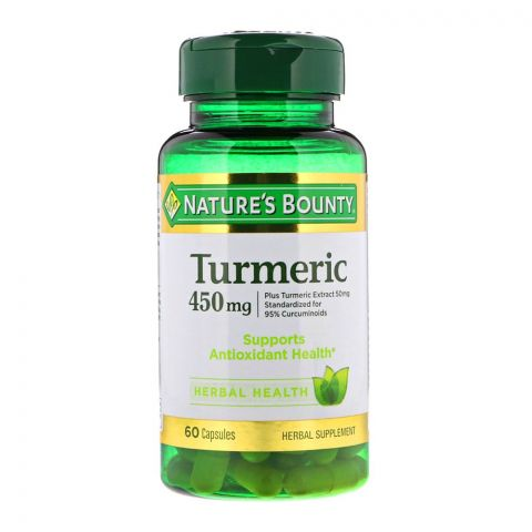 Nature`s Bounty Turmeric, 450mg, 60 Capsules, Herbal Supplement