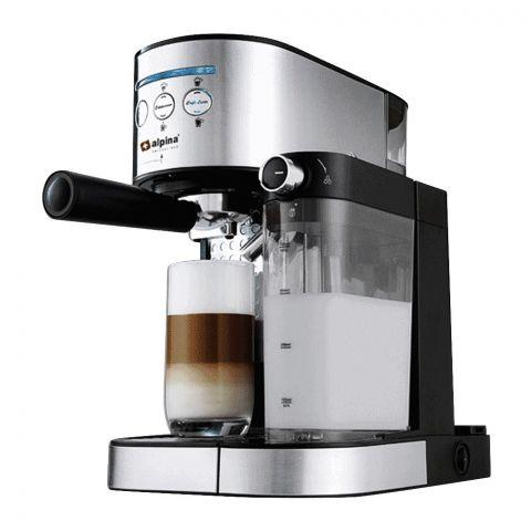 Alpina Coffee Espresso Machine, Silver/Black, SF-2812