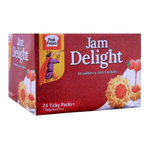 Peek Freans Jam Delight Cookies, 24 Ticky Packs