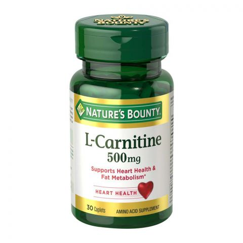 Nature's Bounty L-Carnitine, 500mg, 30 Caplets, Amino Acid Supplement