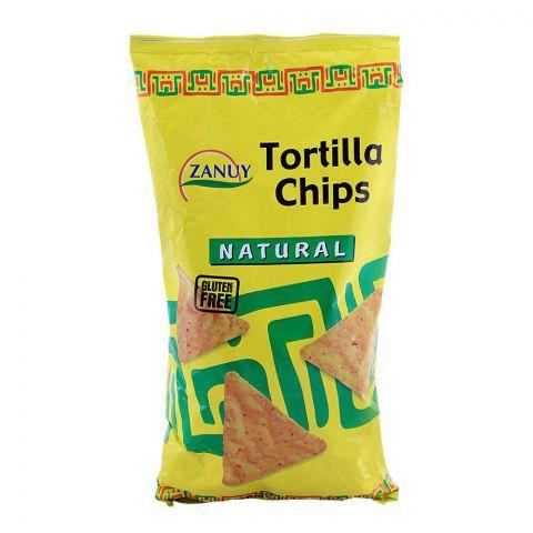 Zanuy Nachos Tortilla Chips, Natural, Gluten Free, 454g