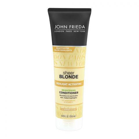 John Frieda Sheer Blonde Highlight Activating Brightening Conditioner, For Darker Blondes, 250ml