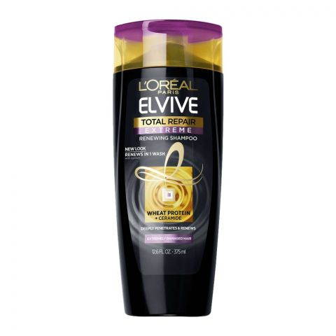 L'Oreal Paris Elvive Total Repair Extreme Renewing Shampoo, For Extremely Damaged Hair, 375ml