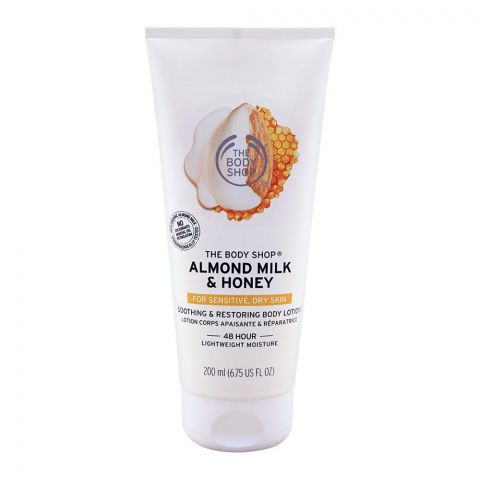 The Body Shop Almond Milk & Honey Soothing & Restoring Body Lotion, 200ml
