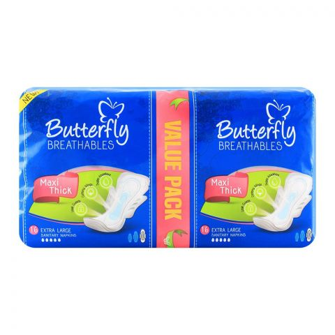 Butterfly Breathables Maxi Thick Extra Large 16-Pack
