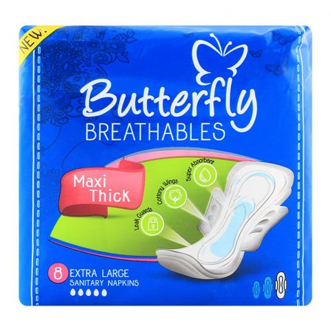 Butterfly Breathables Maxi Thin Extra Large 8-Pack