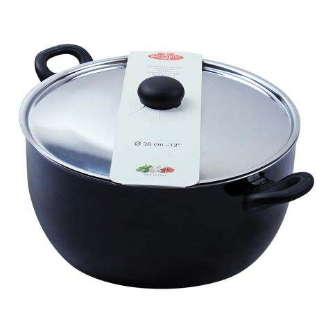 Ballarini Casserole Non-Stick Sauce Pan With Steel Lid, 30cm, 12 Inches