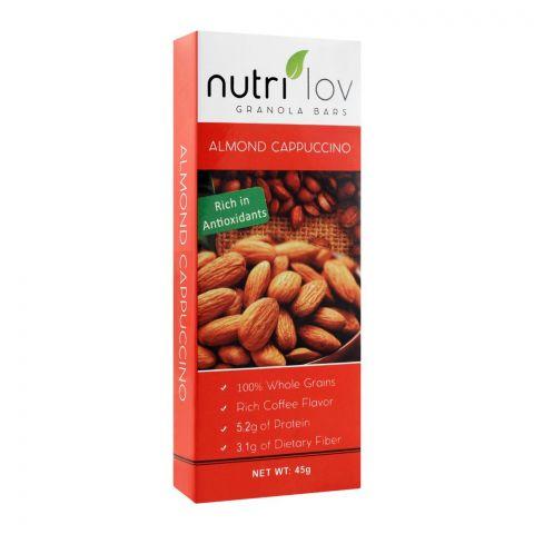 Nutri Lov Granola Bars, Almond Cappuccino, 45g