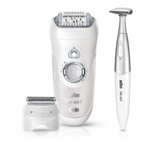 Braun Silk Epil 7 Legs, Body & Face Epilator, Wet & Dry, 8 Pieces, 7-561
