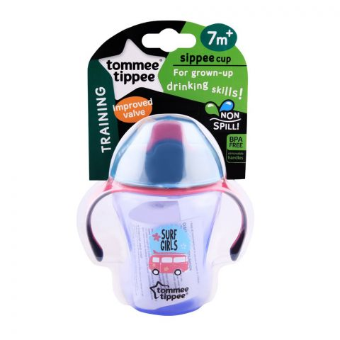 Tommee Tippee Training Sippee Cup 230ml 7m+ (Pink/Bus) - 447110