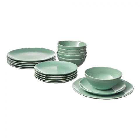 IKEA Fargrik Serving 18 Piece Dinnerware Set, Light Green, 60318920