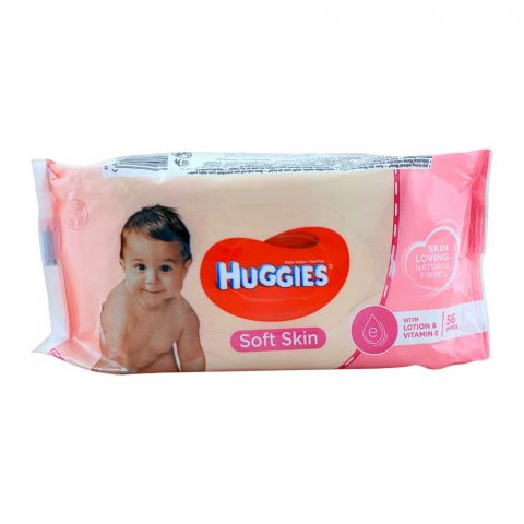 Huggies Soft Skin Baby Wipes 56-Pack