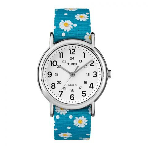 Timex Women's Blue Nylon Analog Quartz Fashion Watch - TW2R24000