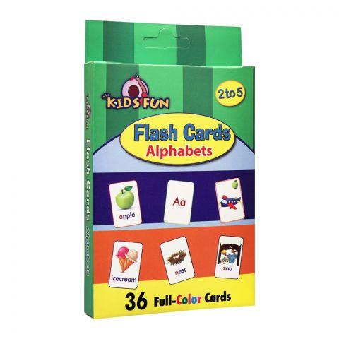 Kids Fun Alphabet Fun Flash Cards, 36-Count
