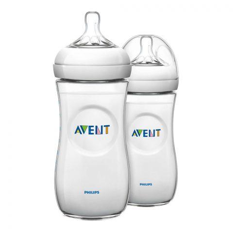 Avent Natural Feeding Bottle, 2-Pack, 6m+, 330ml/11oz, SCF696/23