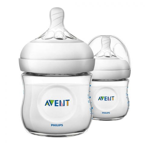 Avent Natural Feeding Bottle, 2-Pack, 125ml/4oz, SCF690/23